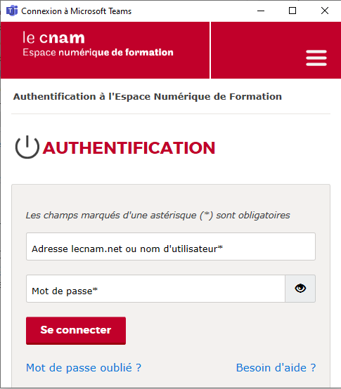 s'identifier sur lecnam.net