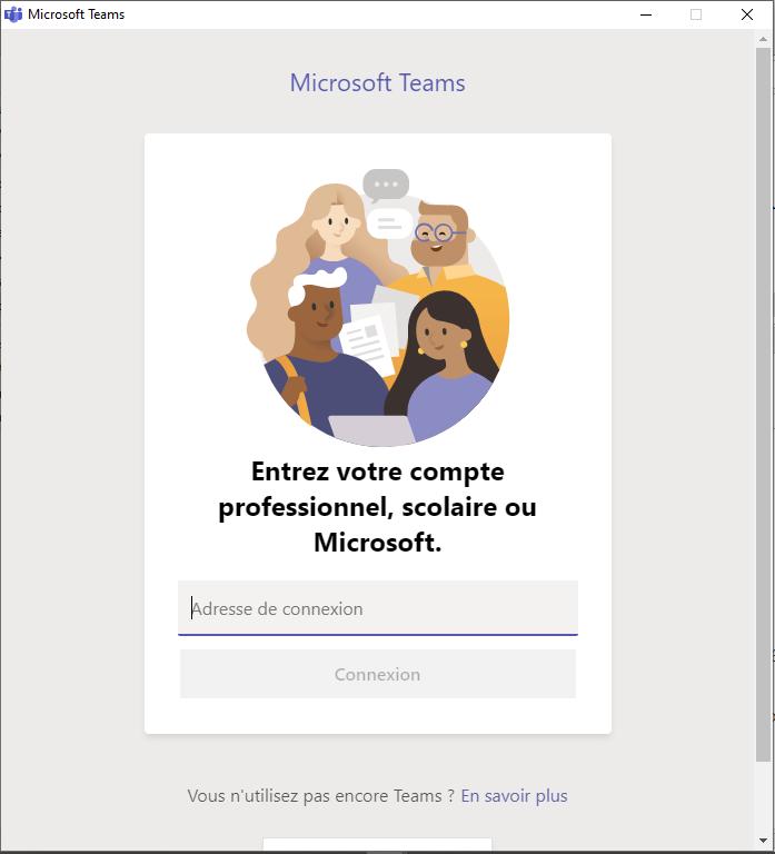 s'identifier sur lle site de Microsoft