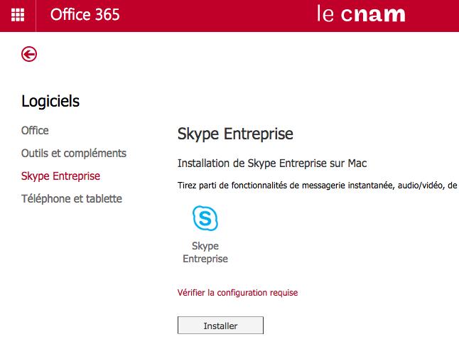 Skype pour MacOS